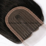 "3,5""x4"" Virgin Indian Remy Hair dentelle fermeture"
