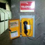 Teléfono a prueba de explosiones industrial del túnel del teléfono del teléfono del telclado numérico del metal