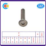 Aço de carbono de DIN/ANSI/BS/JIS/parafuso principal liso galvanizado Stainless-Steel do hexágono para prendedores da maquinaria/indústria