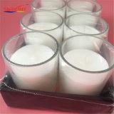 Candela di vetro normale bianca di Smalll dei 8 pacchetti con il pacchetto del regalo dello Shrink