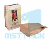 Papier d'emballage comique de sac de tirette de poche de fond plat