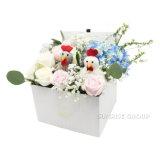 Il fiore alla moda inscatola il contenitore impaccante di cartone di carta