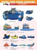 Aufblasbarer Wasser-Park, aufblasbares Pool kombiniert mit aufblasbarem Plättchen