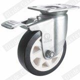 5 Zoll-schwarzes Polyurethan-Rad-industrielle Fußrolle