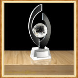 Trofeo del vidrio cristalino de la multa de encargo