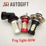 Lampada automatica H4/H7/H8/H10/H11/H16/9005/9006 della nebbia del chip 80W LED del CREE