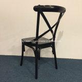 Aluminiumgaststätte-Kaffee-Möbel-Kreuz-rückseitiger speisender Stuhl