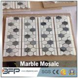 Zwart-wit Opgepoetst Hexagon Marmeren Mozaïek voor de Tegels van de Muur van de Keuken en van de Badkamers
