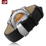Edelstahl-Frauen-Armbanduhr der wasserdichten großen Vorwahlknopf-Männer