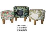 円形のフラミンゴパターンPUによって印刷されるオットマンのフィートの残りの居間の家具