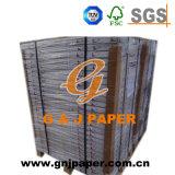 Papier-copie sans carbone réutilisé d'image bleue de pulpe