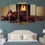 HD het afgedrukte Schilderen van de Modellering van het Karakter Deadpool op het Canvas van het Beeld van de Affiche van het Af:drukken van de Decoratie van de Zaal van het Canvas