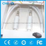 Тонкий кабель от 3.5mm до 3.5mm эластичный вспомогательный цветастый