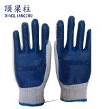 10g 고무 유액 쉘 털실 강선 노동 방어적인 작동 장갑