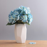 Il vaso di ceramica moderno orna la decorazione geometrica variopinta creativa del fiore del salone