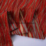 Tela tecida vermelha personalizada da mobília do Chenille do projeto clássico