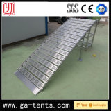 etapa de alumínio Foldable resistente simples de Slop da rampa 400kg