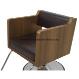 Деревянный кожаный вводя в моду стул парикмахера салона стула уникально