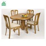 Madeira contínua que janta a tabela de jantar do projeto da mobília com cadeiras