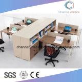 Оранжевый двойной раздел Управление Стол компьютерный стол из дерева