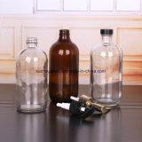500 мл и 300 мл очистить стеклянные бутылки для жидкого мыла с помощью насоса опрыскивателя