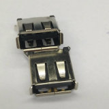 USB 2.0 a/F 180度のすくいの黒のコネクター