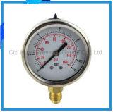 mètre résistant aux vibrations de pression d'acier inoxydable de 60mm