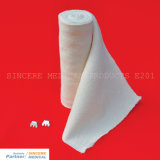 Bandage doucement élastique 100% de support de coton (E201)