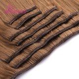 Extensión europea del pelo de Remy Huamn del pelo natural del clip