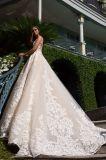 高品質のスパンコールのレースの球の花嫁衣装の夕方のプロムの服