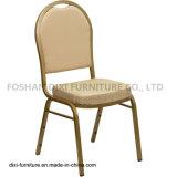 호텔 가구 돔 베이지색 모방된 직물과 형 거품을%s 가진 뒤 겹쳐 쌓이는 연회 의자