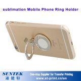 Cubierta del shell de la caja del teléfono del espacio en blanco del sostenedor del anillo del teléfono móvil de la sublimación