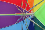 Таможня напечатала перевернутый зонтик дождя вне вверх ногами складывая зонтика