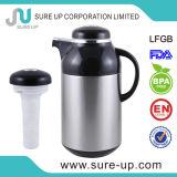 Vácuo inoxidável Jarro com camisa de vidro do filtro de chá (JGFV)