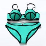 Neopreno de color brillante Sexy Bikini ropa interior de neopreno