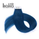 De hete Verkopende Producten van het Haar Menselijke Haar van de Band van 22 Duim het Blauwe