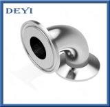 Gomito sanitario della curvatura del morsetto dell'accessorio per tubi da 90 gradi dell'acciaio inossidabile tri
