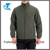 Dos homens de vento Softshell Zip-Front Fleece dentro do invólucro