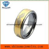 Ювелирные изделия Shineme покрытие Gold высокого качества лазерной печати вольфрам кольцо (TSTG002)