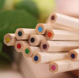 Juego de lápiz de color de alta calidad de impresión de logotipo personalizado Hb lápiz de madera natural