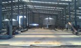 適正価格の曲げられた屋根のうまく設計された鉄骨構造の倉庫