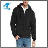 남자를 위한 Zip Sherpa에 의하여 일렬로 세워지는 양털 Hoodie 가득 차있는 재킷