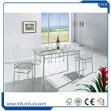 販売のための銀製カラー試供品の安い現代大理石のガラス木製の上のダイニングテーブルが付いている緑の大理石