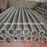 Corrugated гибкий металлический рукав нержавеющей стали с штуцерами