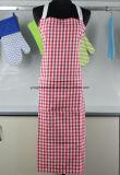 エプロンを調理する編む綿の印刷を点検しなさい