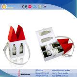 Nuevo diseño de almacenamiento de vino de cuero de 2 botellas Caja de regalo con las herramientas de vino (5741)