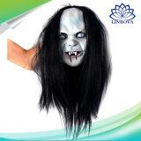 Pelle orribile dell'emulsione delle zombie del lattice di Halloween della mascherina Toothy spaventosa terrificante animale del fantasma con la mascherina di carnevale dei capelli