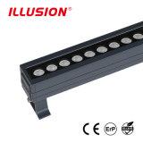 DMX 통제를 가진 옥외 LED 벽 세탁기를 변형시키는 36W IP67 알루미늄 RGB 색깔