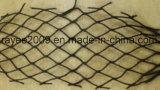 Rete da pesca di torsione di pesca dell'HDPE privo di nodi nero dell'attrezzatura