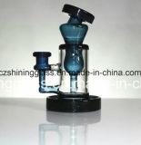 Plataforma petrolífera de vidro de vidro por atacado Shining do bebedoiro automático da tubulação de fumo da água